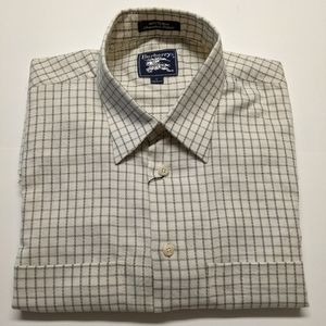 Burberry's cream checkered Size L shirt